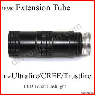 3800 lumens LED torch/Flashlight 18650 Battery Extension Tube