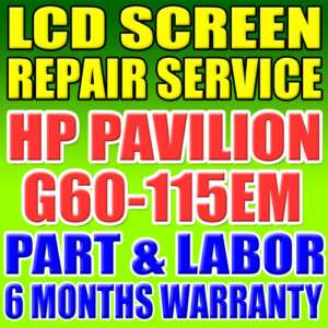 HP Compaq G60 115em lcd screen monitor repair service