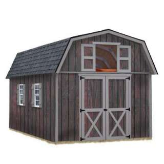Woodville 10 ft. x 16 ft. Wood Storage Shed Kit includes Floor without