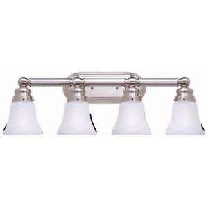 Hampton Bay 4 Light Brushed Nickel Bath Light 05382