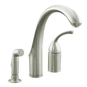 Kohler Forte 3 Hole 1 Handle Mid Arc Kitchen Faucet With Side Sprayer On Popscreen
