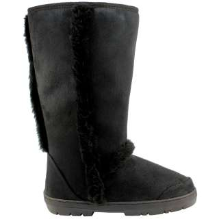 WOMENS FUR LINED WATERPROOF SOLE WINTER SNOW BOOTS 3 8