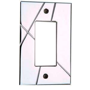 Metal 1 Gang Polished Chrome Single Rocker Wall Plate NSSR CH at The