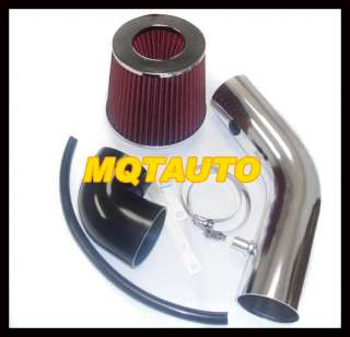 BLACK/RED DAEWOO NUBIRA 2.0L AIR INTAKE + FILTER 00 02