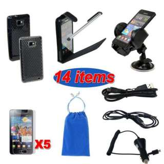 14 PREMIUM ACCESSORY BUNDLE KIT FOR SAMSUNG GALAXY S2 i9100