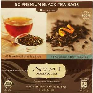 organic tea, 45 breakfast blend bags, 45 earl grey bags, black tea
