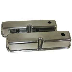 302 351W 5.0L Tall Polished Aluminum Valve Covers   Smooth Automotive