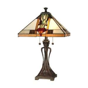 Dale Tiffany Antique Bronze Paint Natalie Mission Table Lamp
