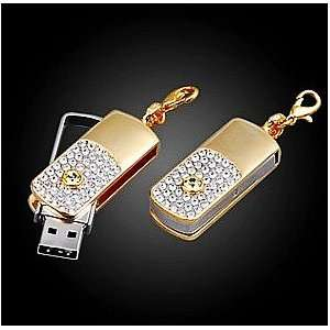 8GB Cool Crystal style USB flash drive with necklace,shiny