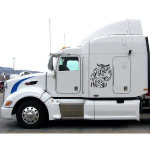 Eighteen Wheeler Truck Car Vinyl Side Graphic Tiger in the Car V20