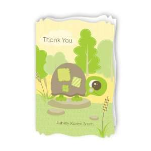 Baby Turtle   Personalized Baby Thank You Cards With