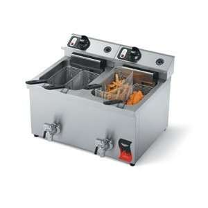 Vollrath 40710 Fryer Electric Countertop 30 Lb. Oil Capacity Dual