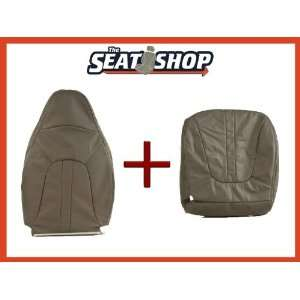97 98 99 00 01 02 Ford Expedition Grey Leather Seat Cover bottom & top
