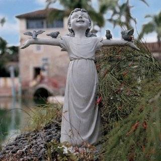 Iron Girl Angel Garden Statue Decor Art Yard Patio, Lawn & Garden