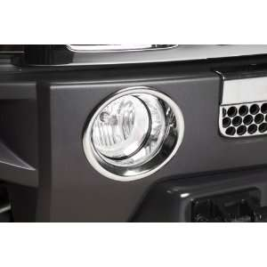 Hummer H3 Triple Chrome Plated Fog Light Bezel Covers (Fits 2006 2009