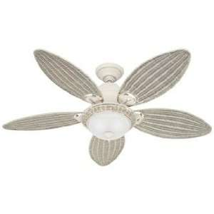 54 Hunter Caribbean Breeze White Ceiling Fan