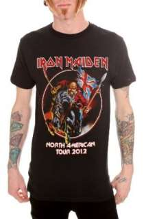 Iron Maiden North American Tour 2012 T Shirt Clothing