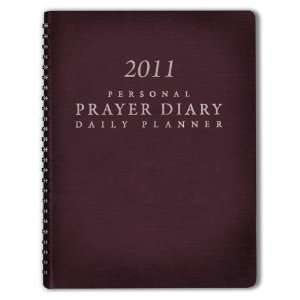 2011 Personal Prayer Diary and Daily Planner (Burgundy