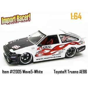 Jada Dub City Import Racer White and Black Toyota Trueno