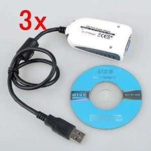 Neewer 3x High Quality USB 2.0 to VGA Extra Multiple