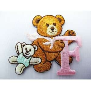 2 Lovely Teddy Bear Embroidered Iron On Patch Everything