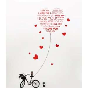 Bigbvg Easy Instant Home Decor Wall Sticker Decal   I Love