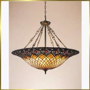 Tiffany Chandelier, QZTF1901VB, 6 lights, Antique Bronze, 32 wide X