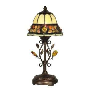 Dale Tiffany TA90228 Pebblestone Accent Table Lamp, Antique Golden