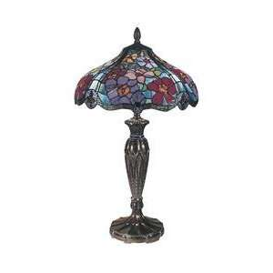 Dale Tiffany TT100517 Linette Tiffany 2 Light Table Lamp
