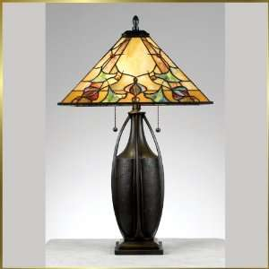 Tiffany Table Lamp, QZTF6774TM, 2 lights, Antique Bronze, 17 wide X