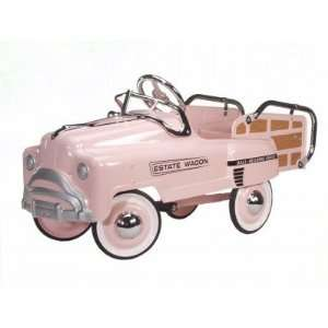 Pink Esate Wagon Pedal Car Toys & Games