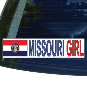 MISSOURI GIRL   flag   Window Bumper Laptop Sticker