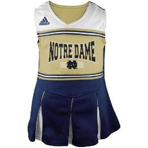 adidas Notre Dame Fighting Irish Preschool Navy Blue Gold Cheerleader
