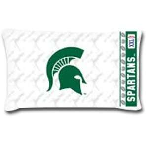 2 NCAA Michigan State Spartans Logo Pillowcases Sports