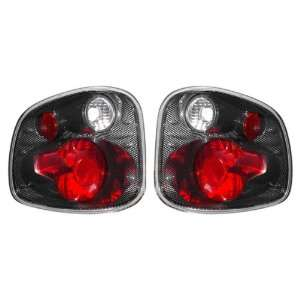 97 03 Ford F Series Flare Side Carbon Tail Lights