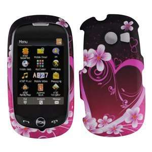 Pink with Purple Love Heart Rubber Texture Samsung A927 Flight