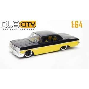 Jada Dub City Yellow & Black 1963 Chevy Impala 164 Scale Die Cast Car