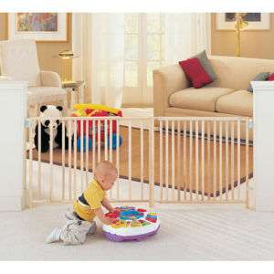 Extra Wide Swing Wood Gate Safety Baby Child Pet Door