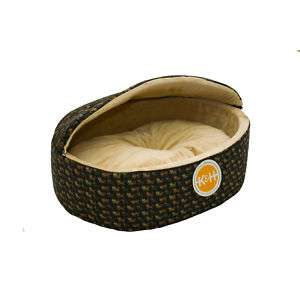 Cuddle Sleeper Hooded Cat Bed Small Black Kitty