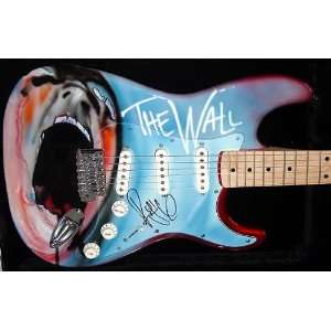 Pink Floyd Autographed Roger Waters Signed The Wall Guitar