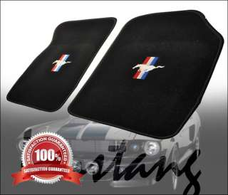 99 04 FORD MUSTANG COBRA BLACK NYLON FLOOR MATS CARPETS 4 PIECES FM272