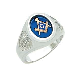 Silver or Vermeil (Gold Plated) Masonic Freemason Mason Ring