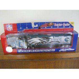 Philadelphia Eagles Diecast Semi Truck Tractor Trailer 180 Scale NEW