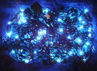 150 Blue Christmas Holiday Grid Lights Indoor Outdoor Yard Tree