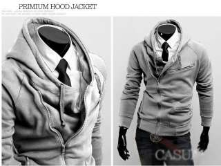 HN93 Stylish Slim Fit Mens Jackets Coats 4Colors 4Size