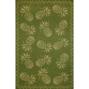Trans Ocean Thatcher (Tommy Bahama) Pineapple Moss Rug   1